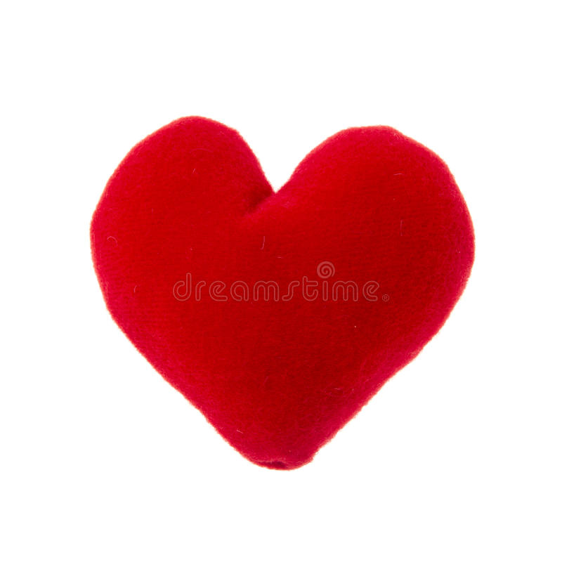 Download Red heart pillow stock image. Image of cushion, decoration - 26005491