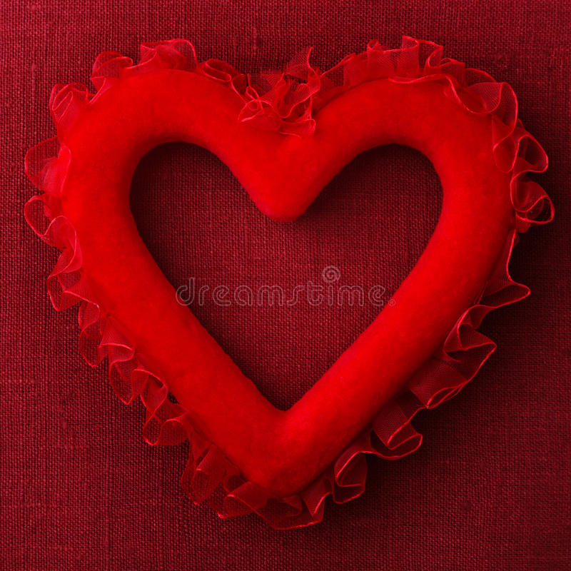 Download Red heart pillow stock image. Image of velvet, love, shapes - 28755145