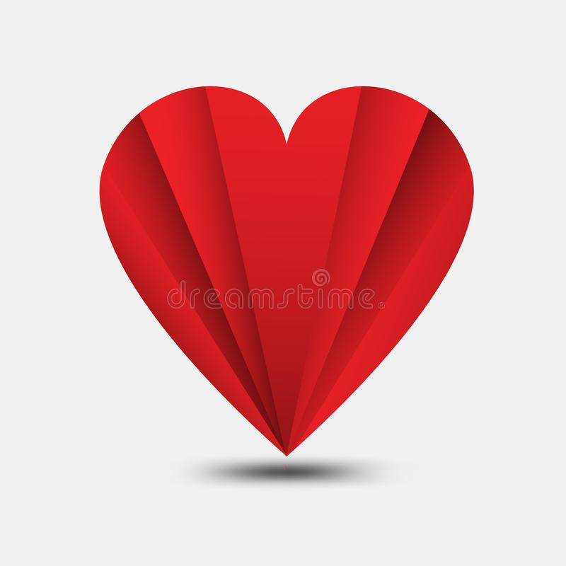 Red heart polygonal vector, heart icon, logo, flat icon for apps and website, love sign, valentine symbol, polygon graphic. Eps10 royalty free illustration