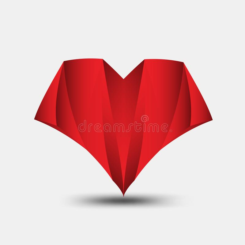 Red heart polygonal vector, heart icon, T shirt logo, flat icon for apps and website, love sign, valentine symbol, polygon graphic. Eps10 vector illustration