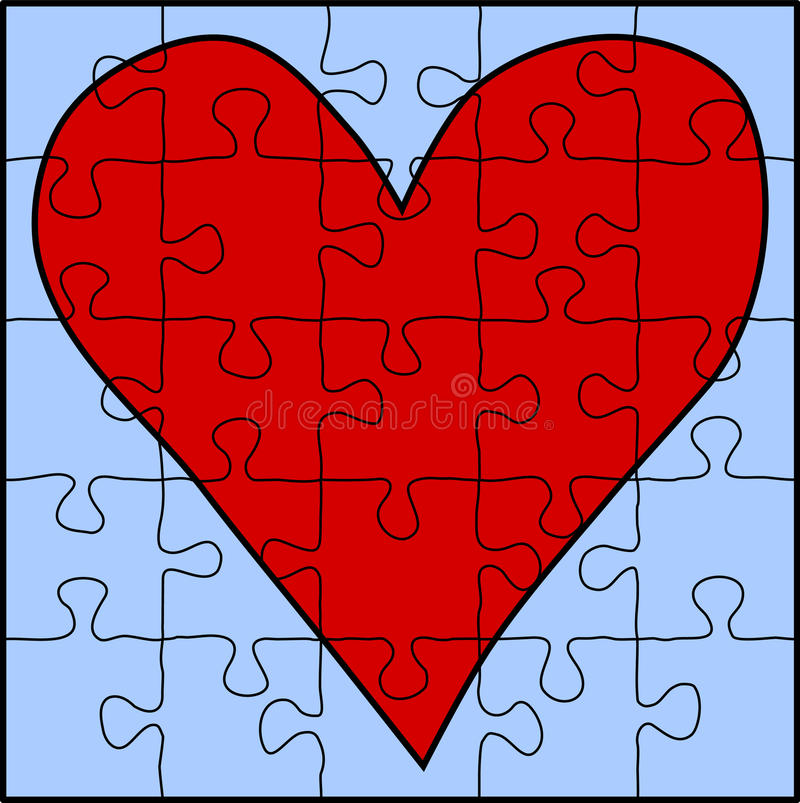 Free Red Heart Puzzle Royalty Free Stock Photography - 18351957