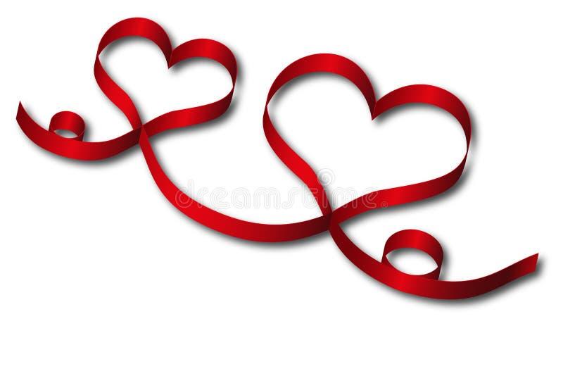 Download Red heart ribbon stock illustration. Illustration of celebrating - 24632794