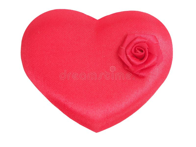 Red heart and rose stock image
