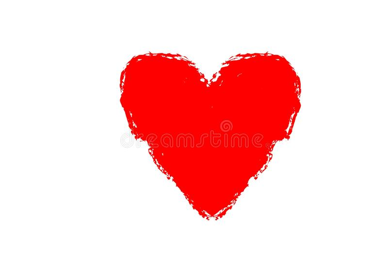 Red heart shape icon on white background. Red heart shape icon white background wedding married sign symbol drawing creative new single love style passion couple royalty free stock photography