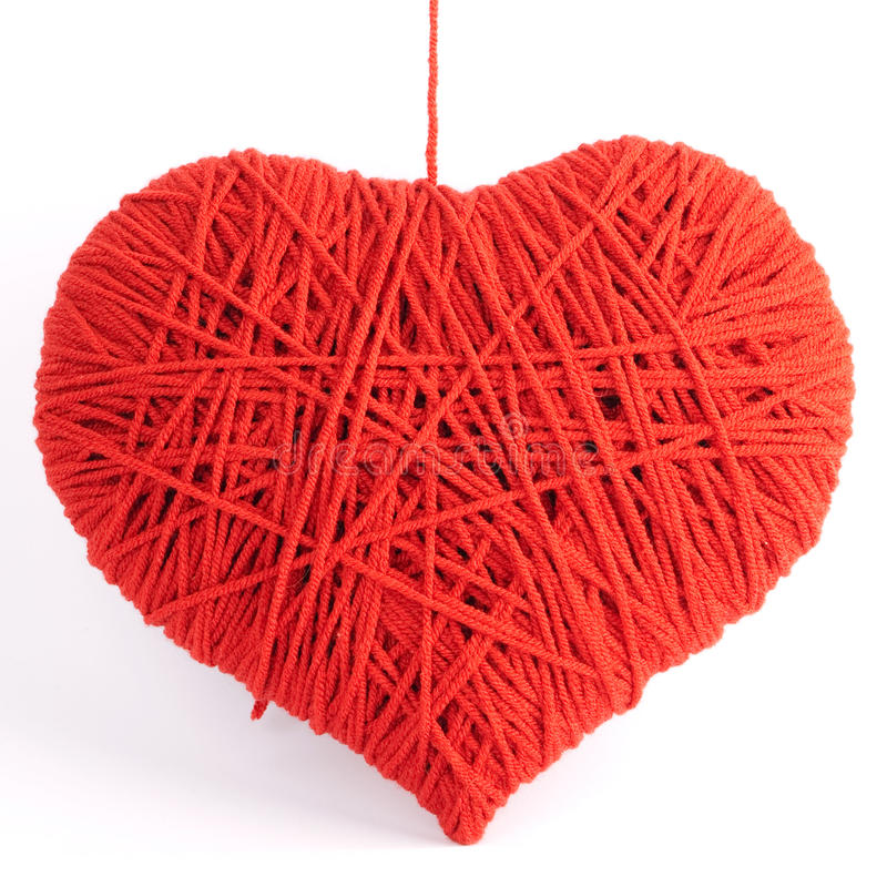 Download Red Heart Shape Symbol Made From Wool Stock Photos - Image: 17614873