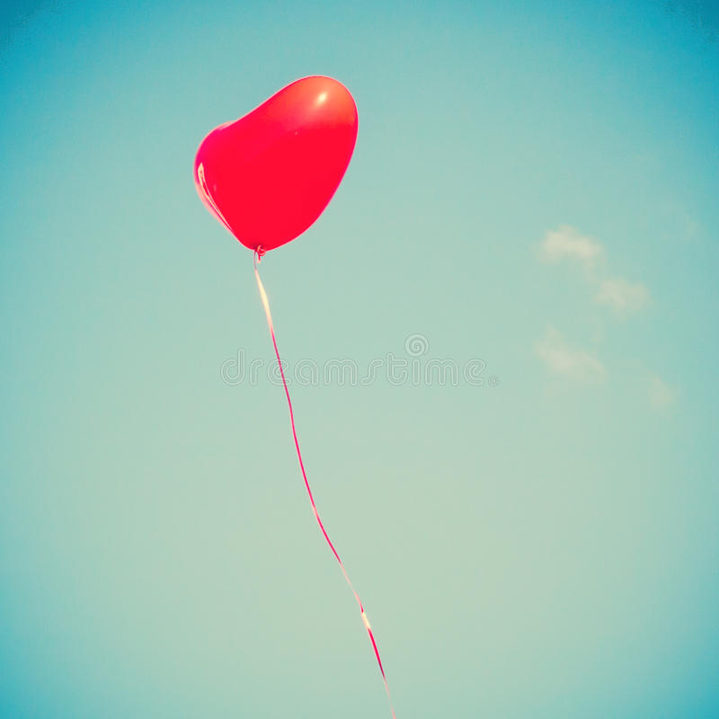 Red Heart-shaped balloon royalty free stock photography