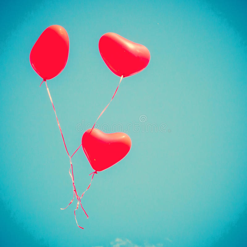 Free Red Heart-shaped Balloons Royalty Free Stock Images - 42469799