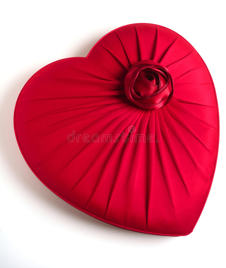 Red heart-shaped box stock images