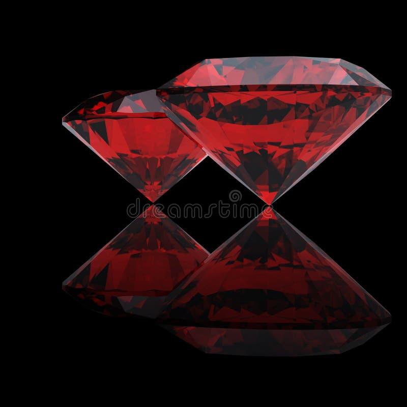 Download Red heart shaped garnet stock illustration. Image of reflection - 12490598