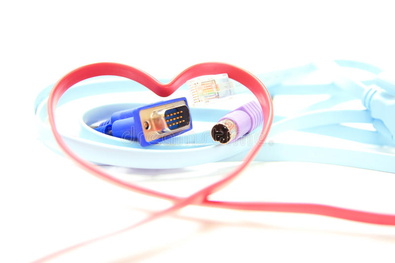 Red Heart Shaped Network Cable