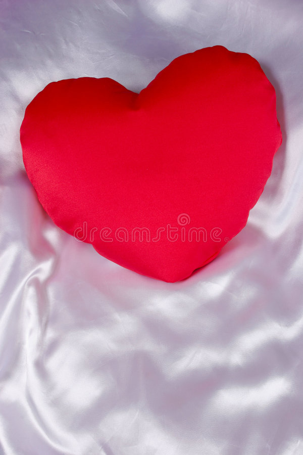 Download Red heart shaped pillow stock photo. Image of white, friendship - 1715324