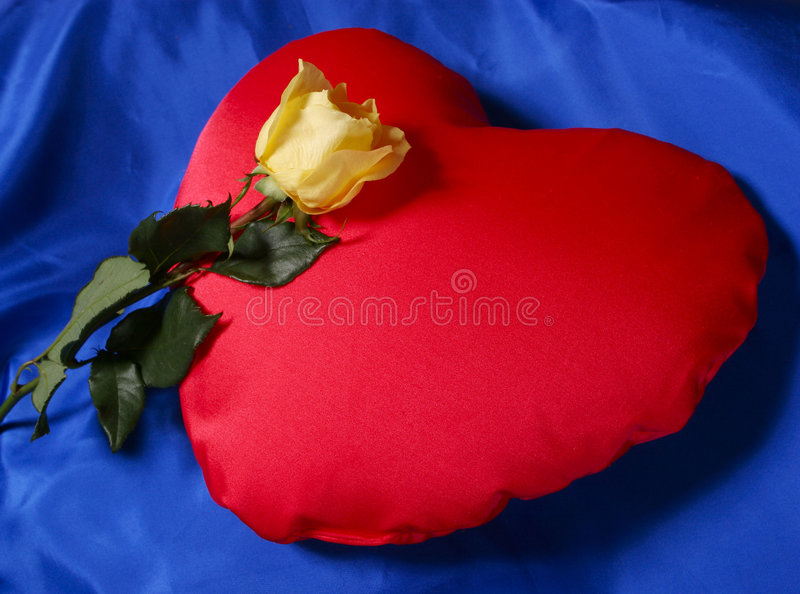 Download Red heart shaped pillow stock image. Image of petals, flower - 1715403
