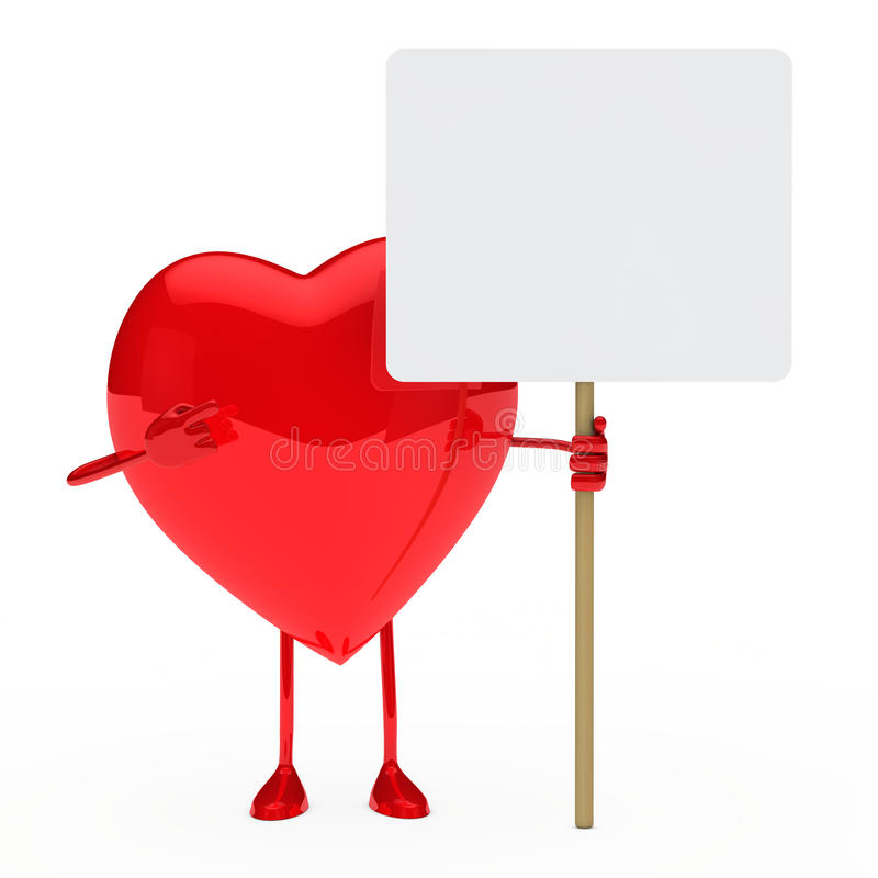 Red heart show vector illustration