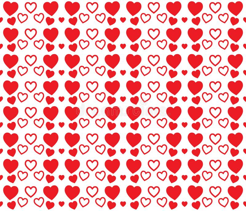 Red heart texture for Valentines Day. Clean and lovely background design. Background with red hearts. Nice texture for Valentines Day. Clean and lovely stock illustration