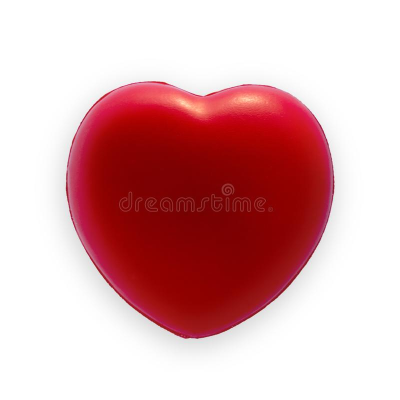 Red heart at Valentine day royalty free stock images