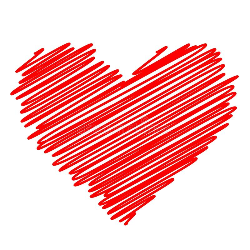 Red Heart Vector Icon Stock Vector Illustration Of Artwork 79568613