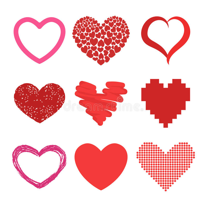 red heart vector icons stock vector illustration of gift 75976549 rh dreamstime com heart vector file heart vector image