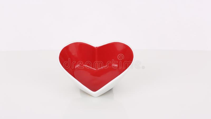 Red heart waiting for love royalty free stock image