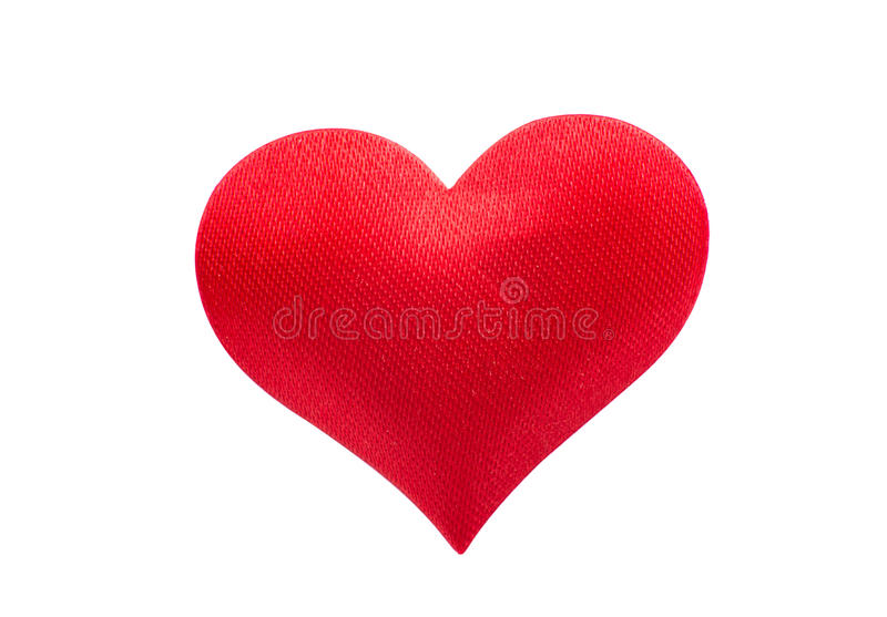 Red heart. On a white background stock illustration