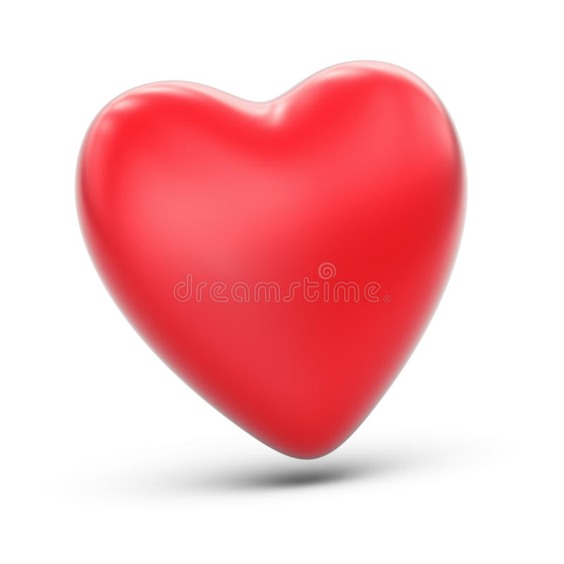 Red heart. On white background stock illustration