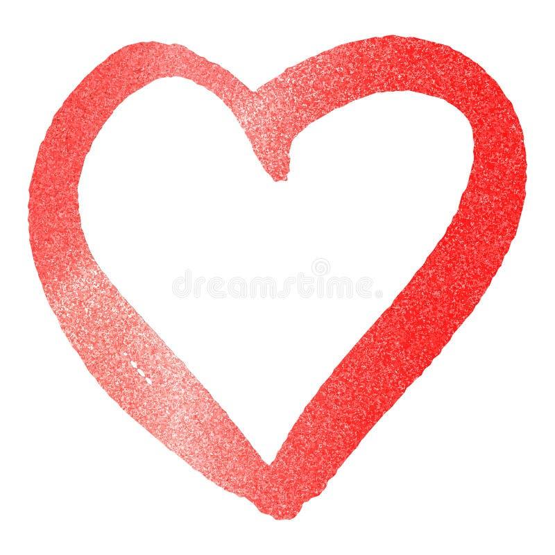 Red heart on white background. Metallic style. Abstract golden bright light. Glitter heart. Love, wedding concept. Gold glitter vector illustration