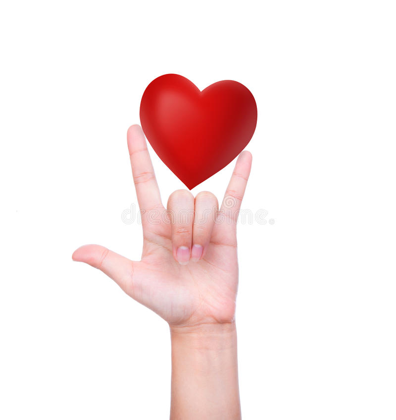 Download Red Heart In Woman Hand Royalty Free Stock Photo - Image: 36620495