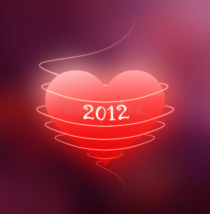 Red Heart - Year 2012 Stock Image