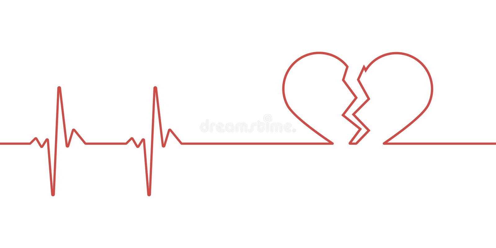 Red heartbeat line icon vector illustration