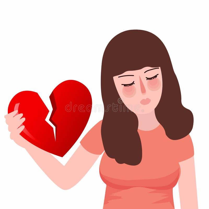 Free Red Heartbreak Broken Heart Or Divorce Flat Girl Unhappy Sad Royalty Free Stock Photography - 85031917
