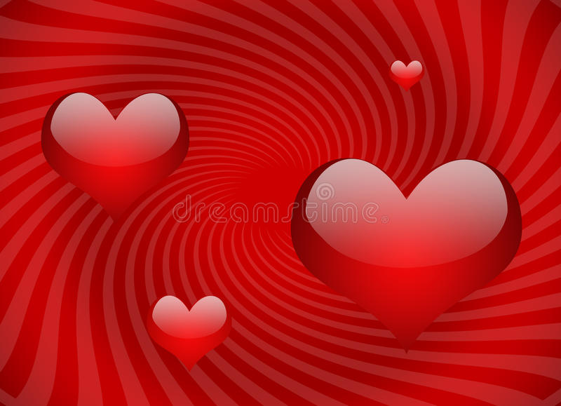 Red hearts royalty free illustration