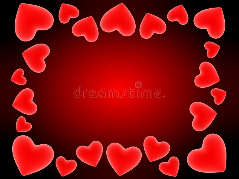 Red hearts vector illustration