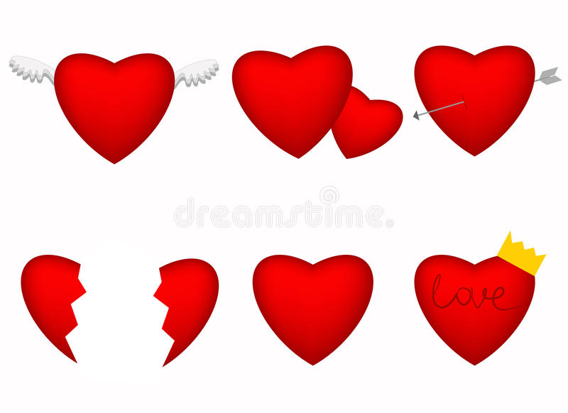 Download Red hearts stock vector. Image of lovers, background - 28679821