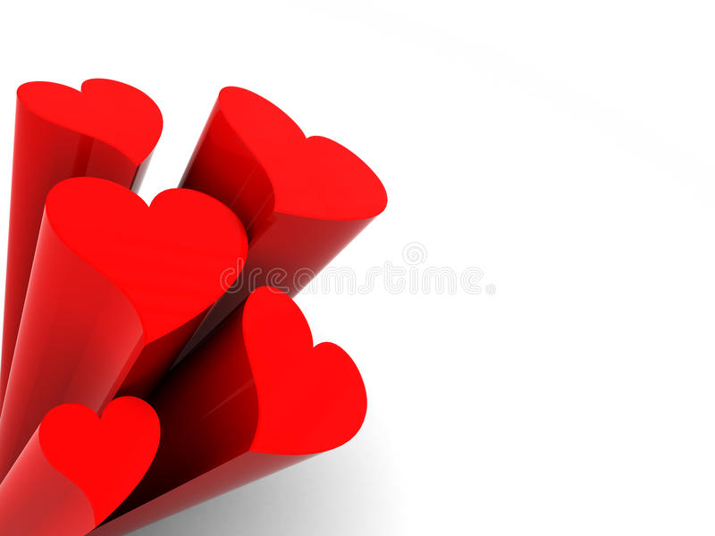 Download Red hearts background stock illustration. Image of heart - 12001251