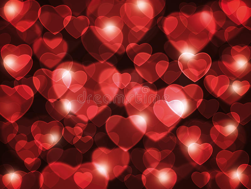 Red hearts background. royalty free illustration