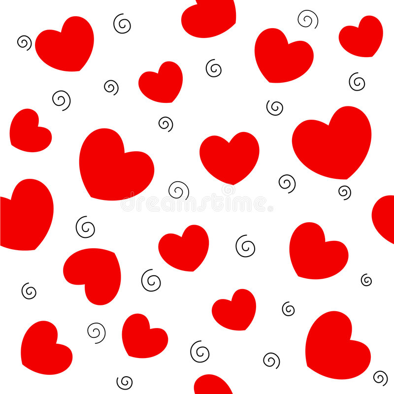 Red hearts background stock illustration