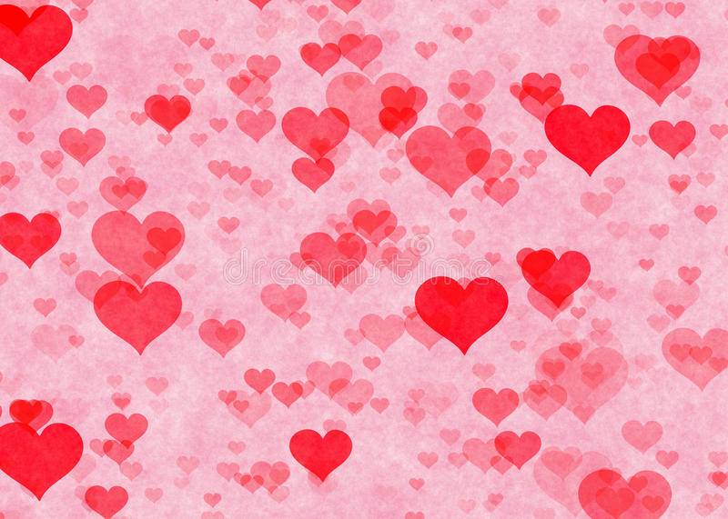 Red Hearts Backgrounds. Love Textures Stock Illustration