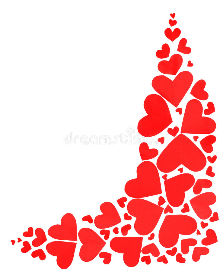 Red hearts border royalty free stock photo