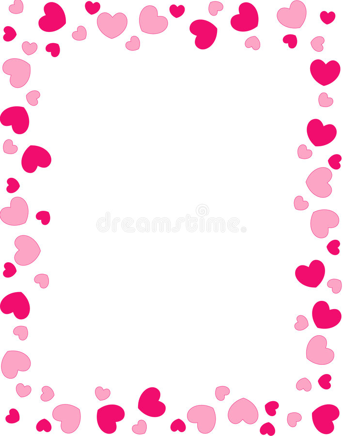 red hearts border stock vector illustration of inviting