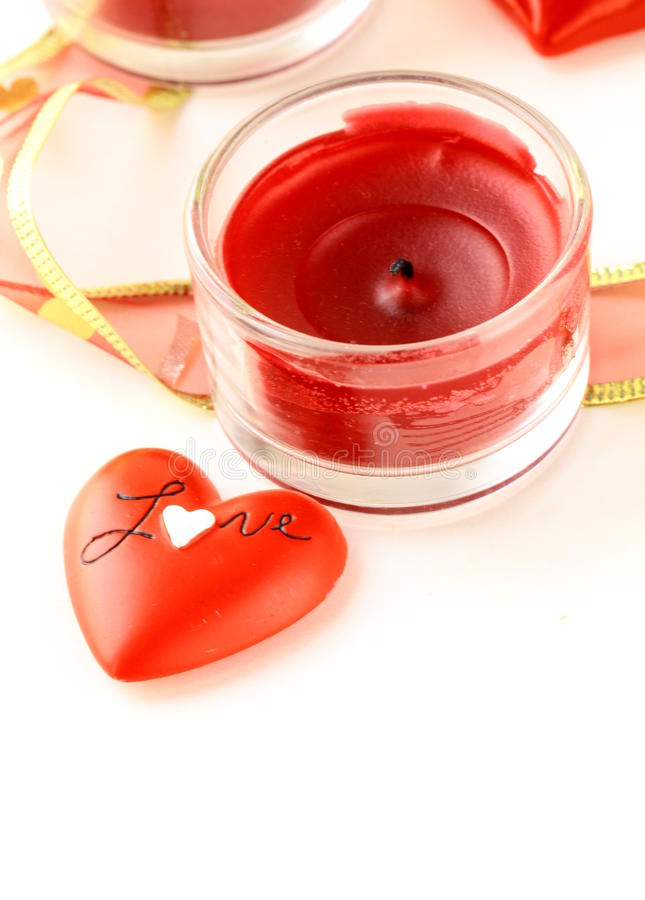 Download Red hearts and  candle stock photo. Image of holiday - 22753428