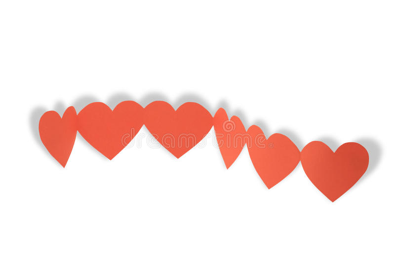 Download Red Hearts Chain stock photo. Image of decoration, romance - 12038230