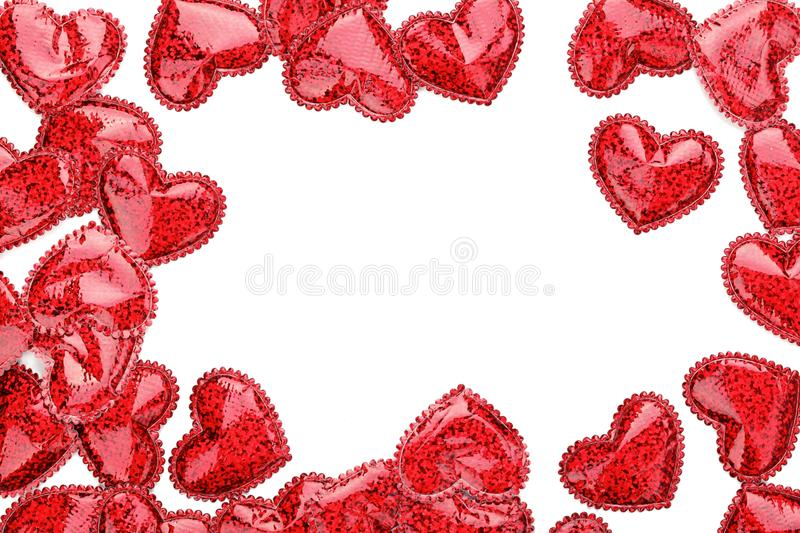 Download Red hearts confetti stock image. Image of nobody, border - 17555429