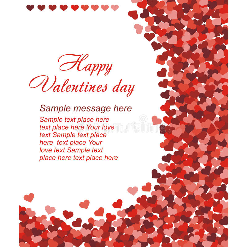 Red Hearts Confetti On White Background Stock Photo