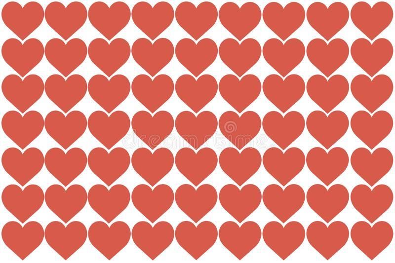 Red Hearts Design on White Background. Love, Heart, Valentine`s Day. Can be used for Articles, Printing, Illustration purpose, vector illustration