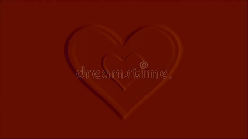 Red hearts with red background royalty free stock photography