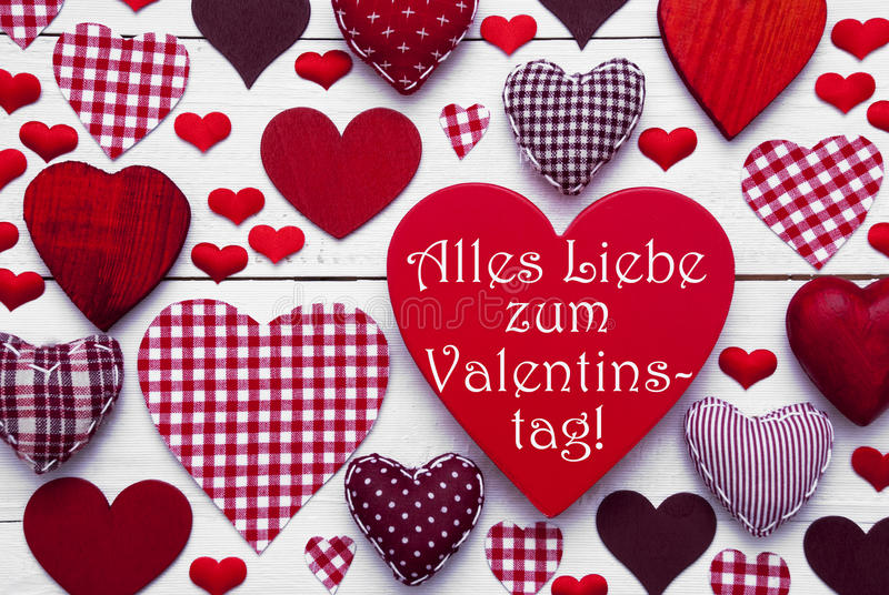 Download Red Hearts Texture, Text Valentinstag Means Happy Valentines Day  Stock Photo   Image: