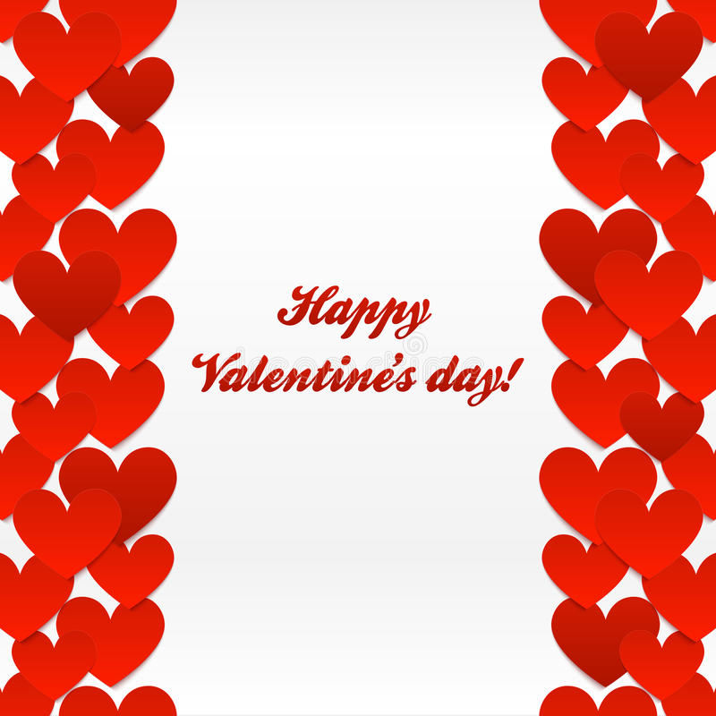 Download Red Hearts Valentines Day Greeting Card Stock Vector - Image: 28487609