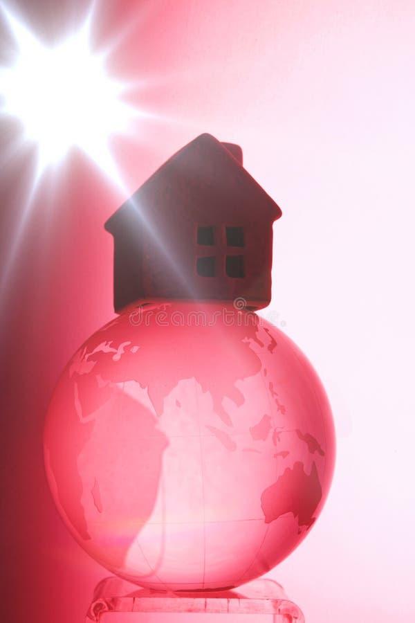 Global warming. Red ,heat, hot temperature , global warming concept stock photos