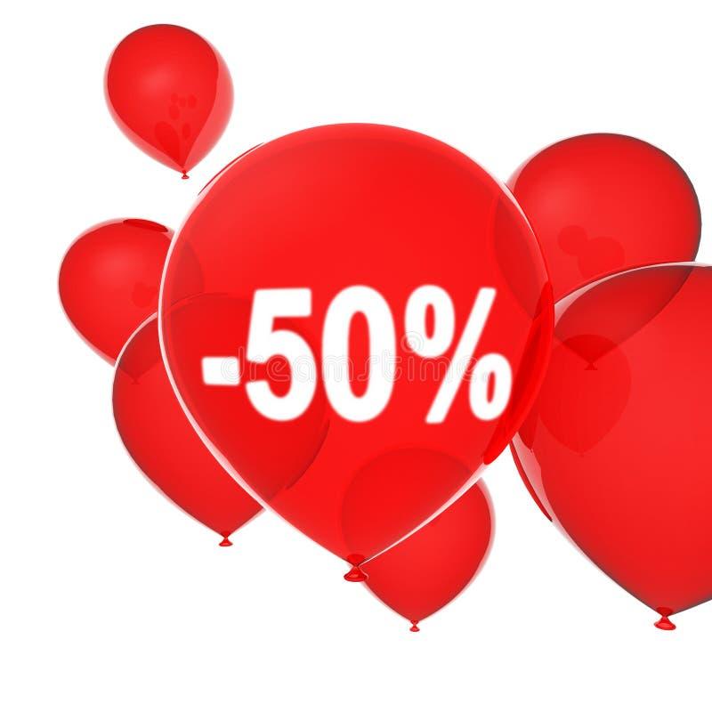 Red helium balloons vector illustration