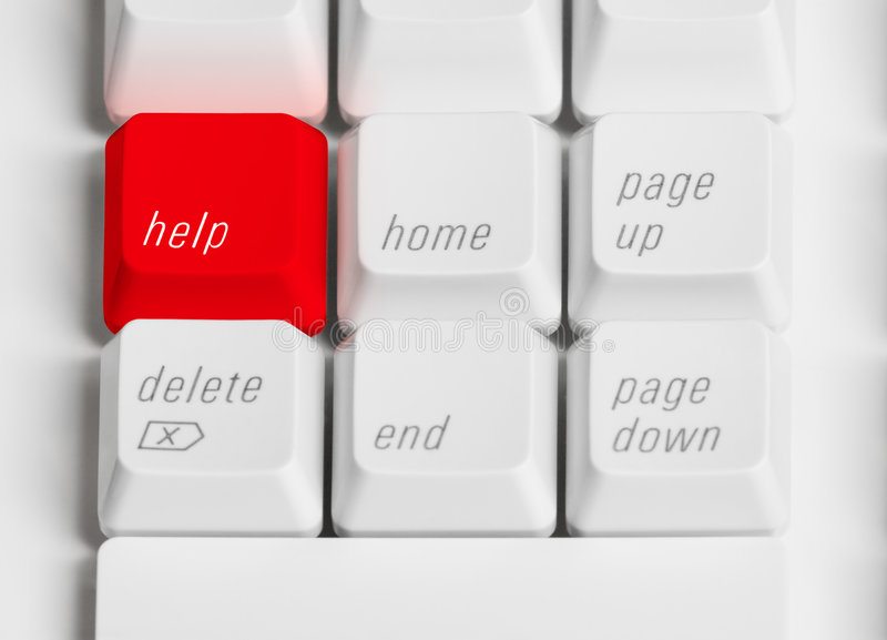 Red Help Button royalty free stock photography