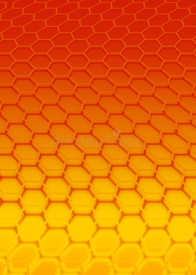 Red hexagon royalty free stock image